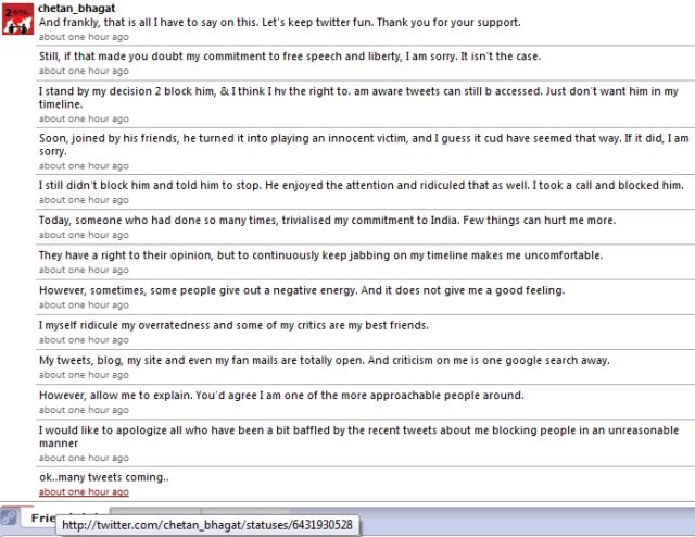 Chetan Bhagat explains ChetanBlock..