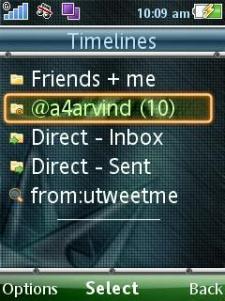 uTweetMe - Timeline